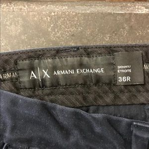 Armani exchange skinny chino pants blue size 36